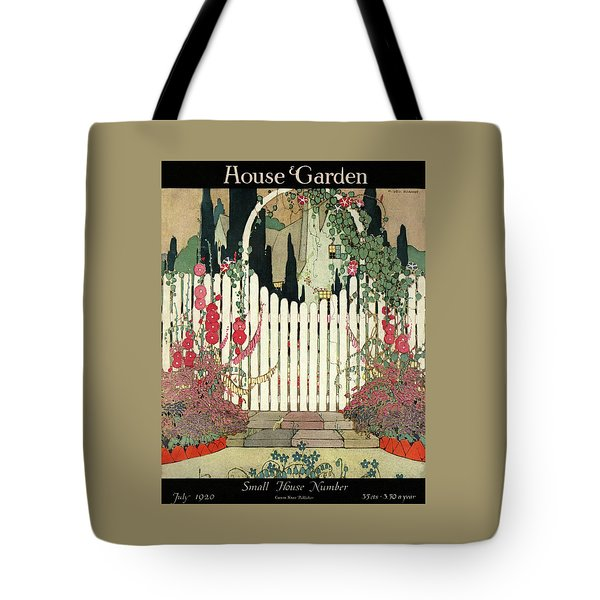 House And Garden Small House Number Tote Bag