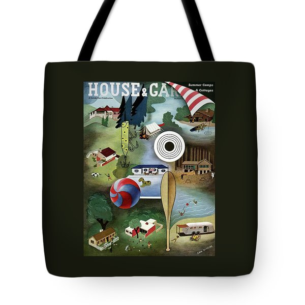 House And Garden Summer Camps And Cottages Cover Tote Bag