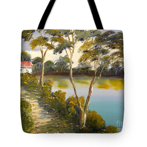 House By The Lake Tote Bag