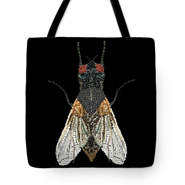 House Fly Bedazzled Tote Bag
