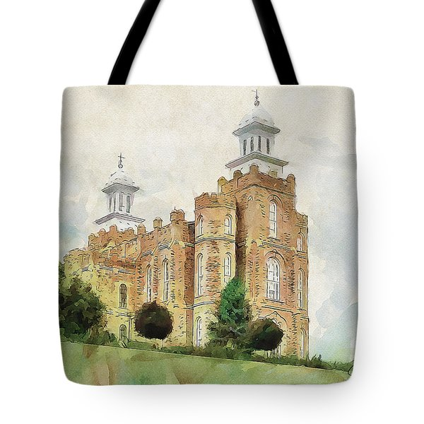 Tote Bag featuring the painting House Of Defense by Greg Collins