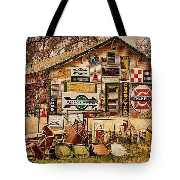 House Of Signs Tote Bag by Priscilla Burgers