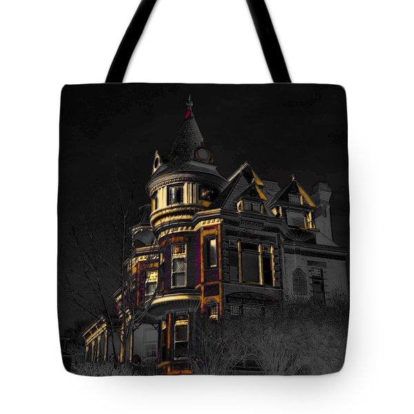 House On The Hill Tote Bag by Liane Wright