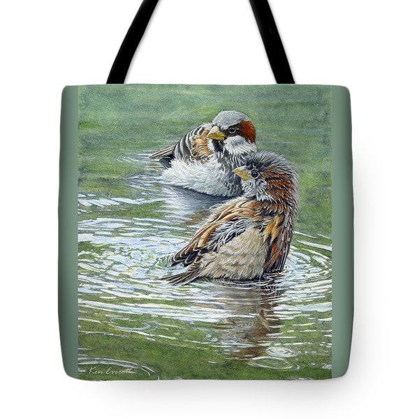 House Sparrows  Tote Bag by Ken Everett