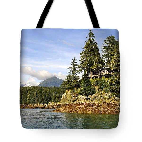 Tote Bag featuring the photograph House Upon A Rock by Cathy Mahnke
