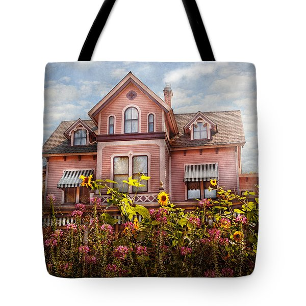 House - Victorian - Summer Cottage  Tote Bag by Mike Savad