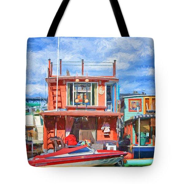 Houseboat #2 - Lake Union - Seattle Tote Bag