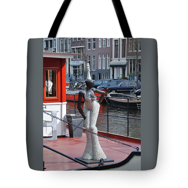 Tote Bag featuring the photograph Houseboat Chanteuse by Allen Beatty