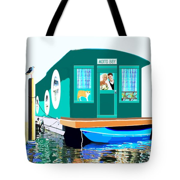 Houseboat Tote Bag by Marian Cates