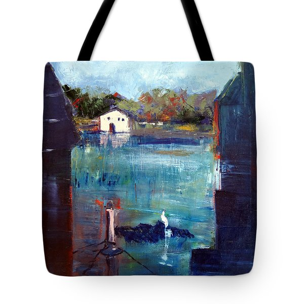 Houseboat Shadows Tote Bag
