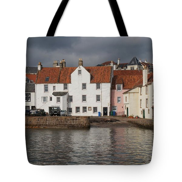 Houses At Pittenweem Harbor Tote Bag