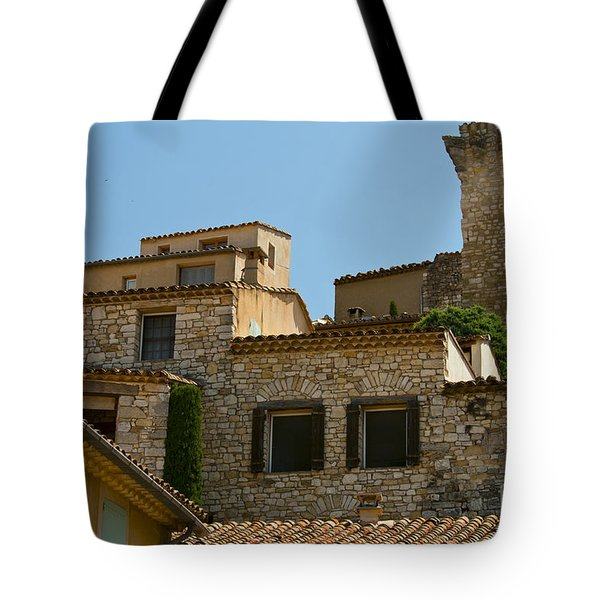 Houses At The Top Of The Hill Tote Bag by Bob Phillips