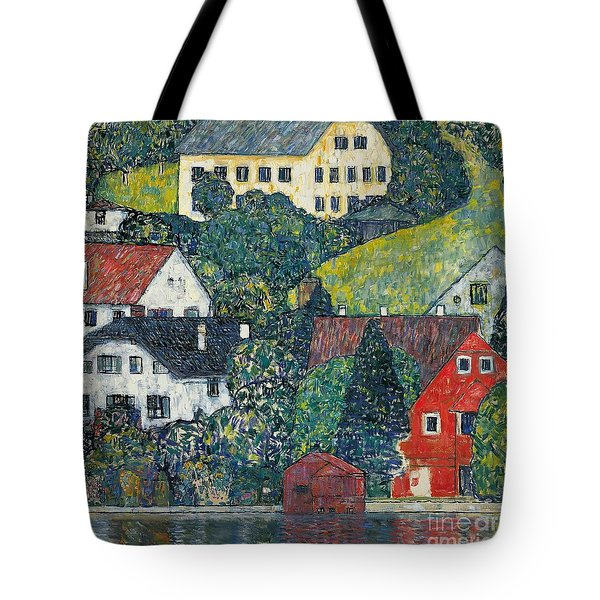Houses At Unterach On The Attersee Tote Bag by Gustav Klimt