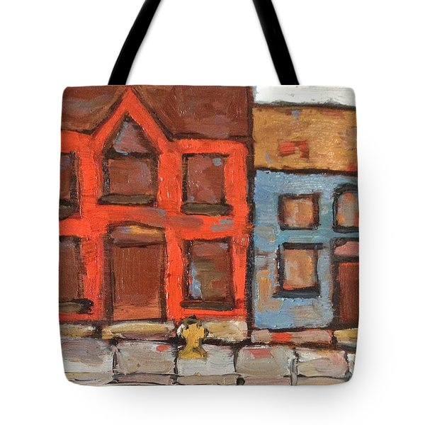 Houses In Portsmouth Tote Bag by David Dossett
