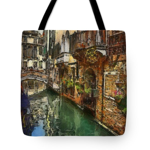 Houses In Venice Italy Tote Bag by Georgi Dimitrov