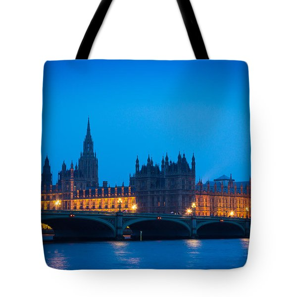Houses Of Parliament Tote Bag by Inge Johnsson