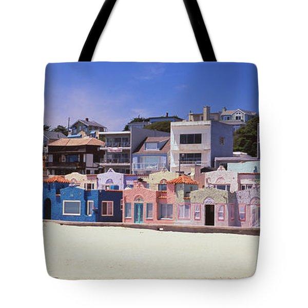 Houses On The Beach, Capitola, Santa Tote Bag