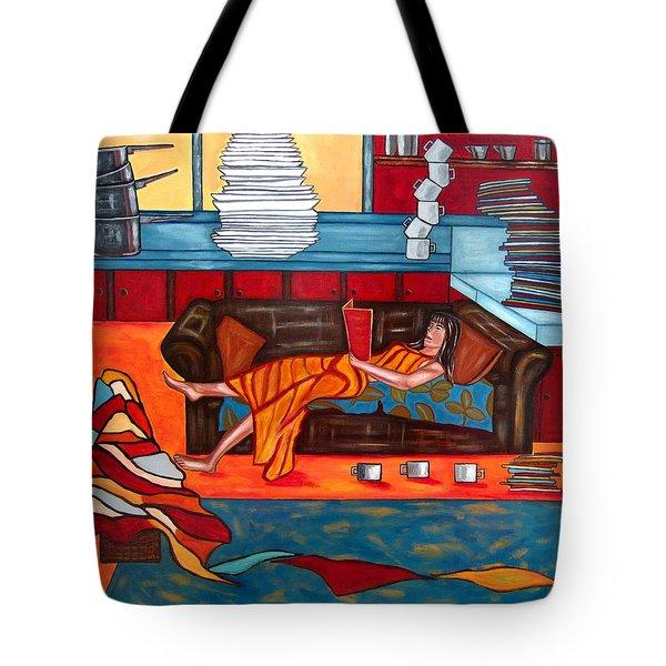 Housework Tote Bag by Sandra Marie Adams