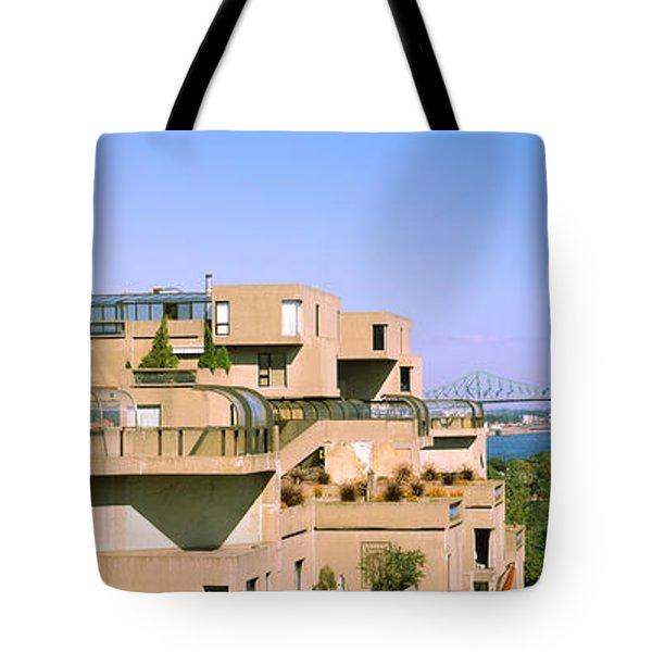 Housing Complex With A Bridge Tote Bag