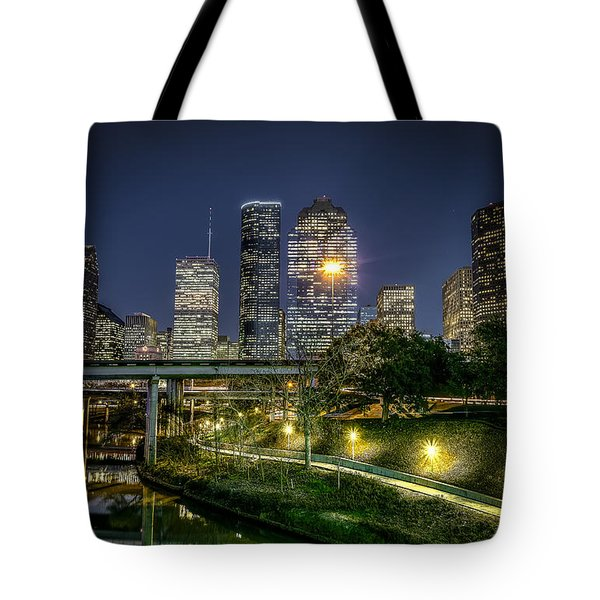 Houston On The Bayou Tote Bag