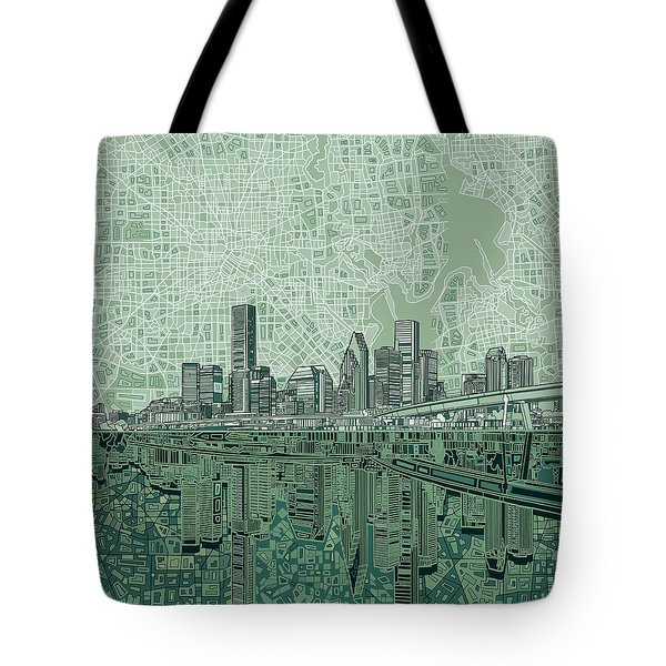 Houston Skyline Abstract 2 Tote Bag