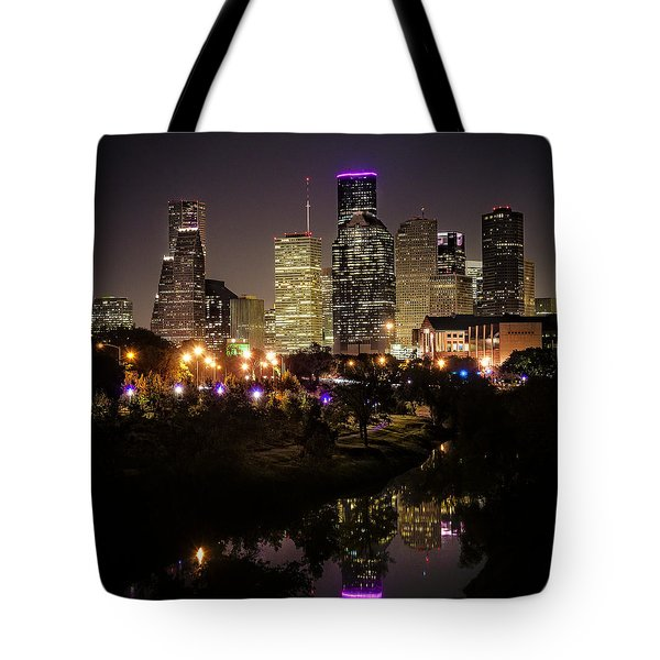 Houston Skyline From Buffalo Bayou Tote Bag