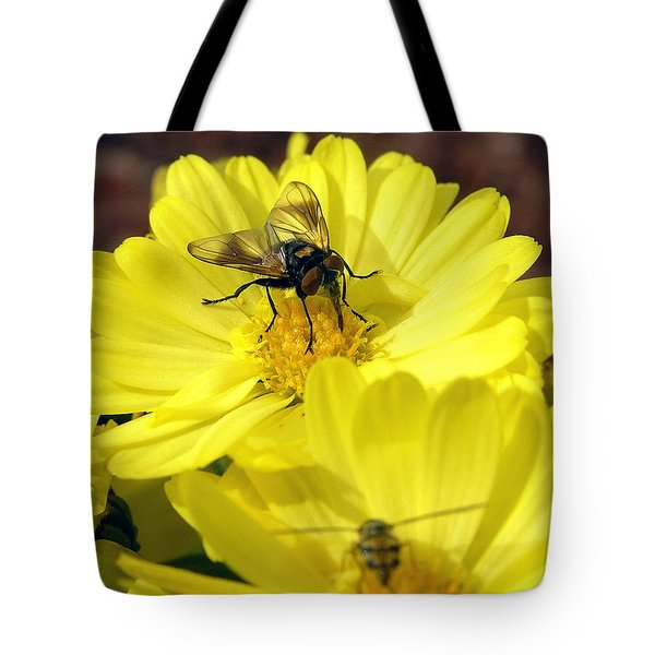 Hoverfly Tote Bag by Christina Rollo