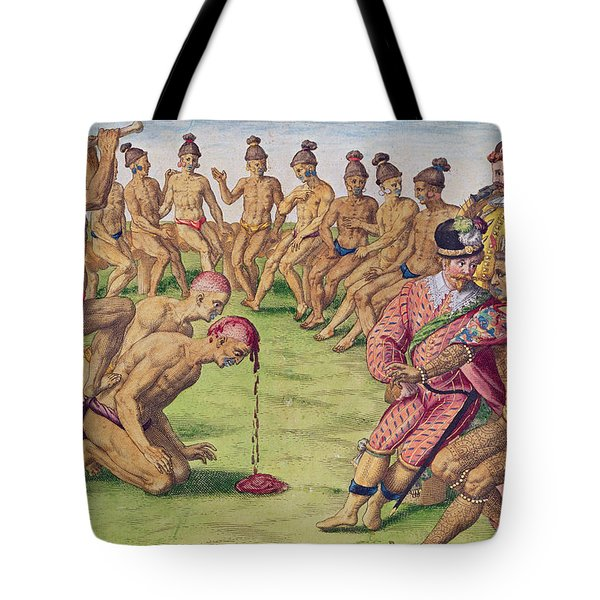 How A Sentry Was Treated For Negligence Tote Bag by Jacques Le Moyne