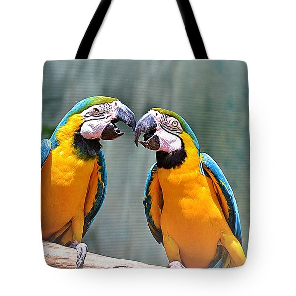 How About A Little Kiss Tote Bag by Tara Potts