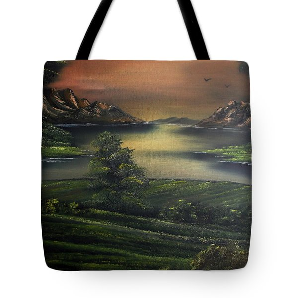 How Green Is My Valley Tote Bag by Cynthia Adams