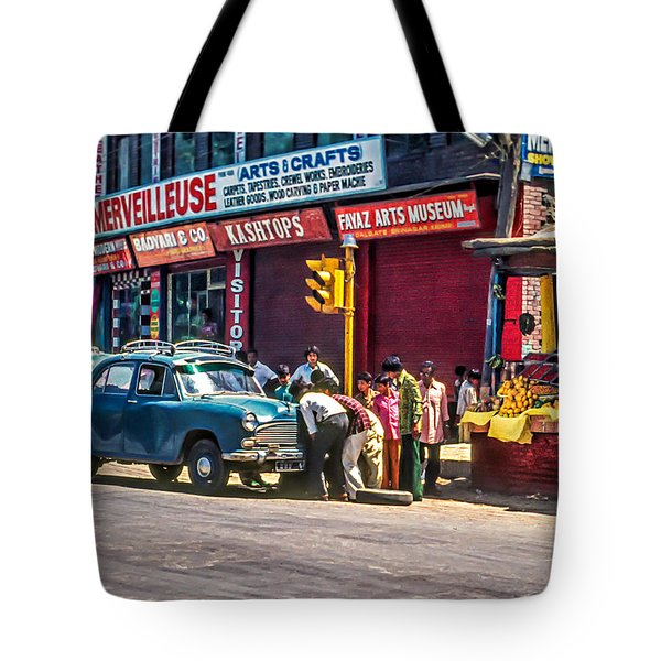How To Change A Tire Tote Bag by Steve Harrington