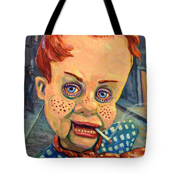 Howdy Von Doody Tote Bag by James W Johnson