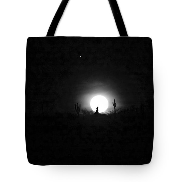 Howling At The Moon Tote Bag by Anne Mott