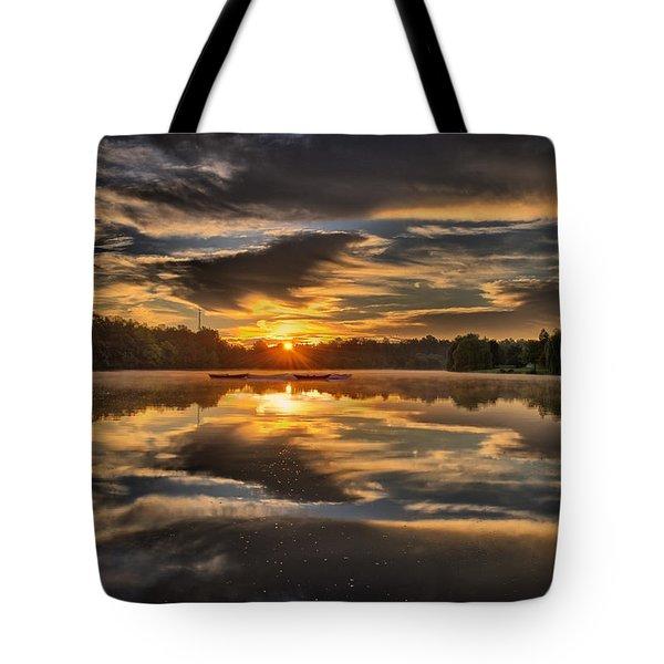 Hoyt Lake Sunrise Tote Bag