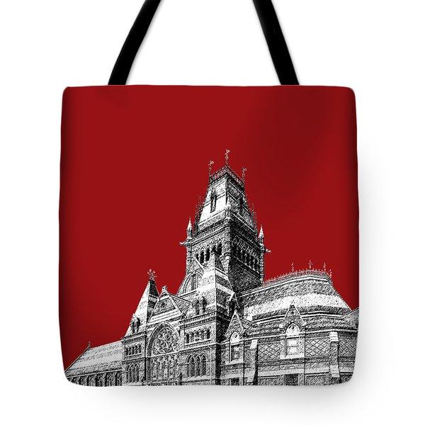Harvard University - Memorial Hall - Dark Red Tote Bag