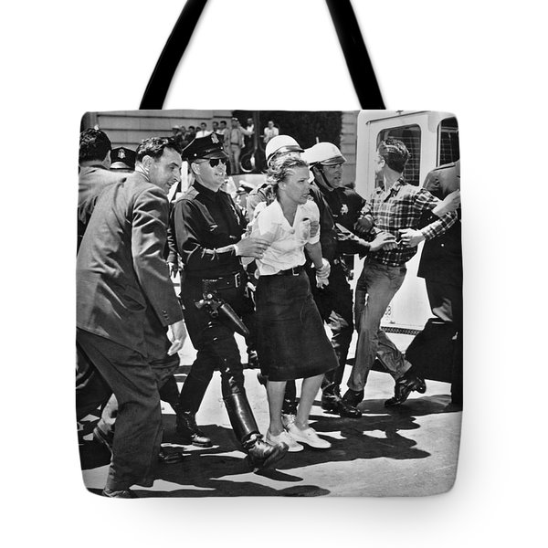 Huac Protesters Arrested In Sf Tote Bag