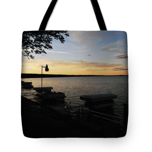 Hubbard Lake Sunset Tote Bag