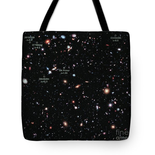 Hubble Extreme Deep Field Xdf Tote Bag by Science Source