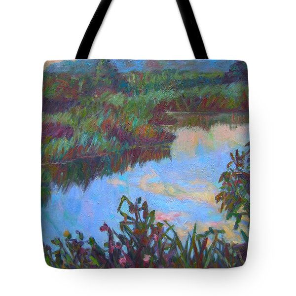 Huckleberry Line Trail Rain Pond Tote Bag by Kendall Kessler