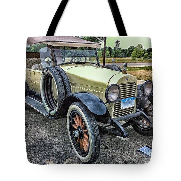 Tote Bag featuring the photograph hudson 1921 phaeton car HDR by Paul Fearn