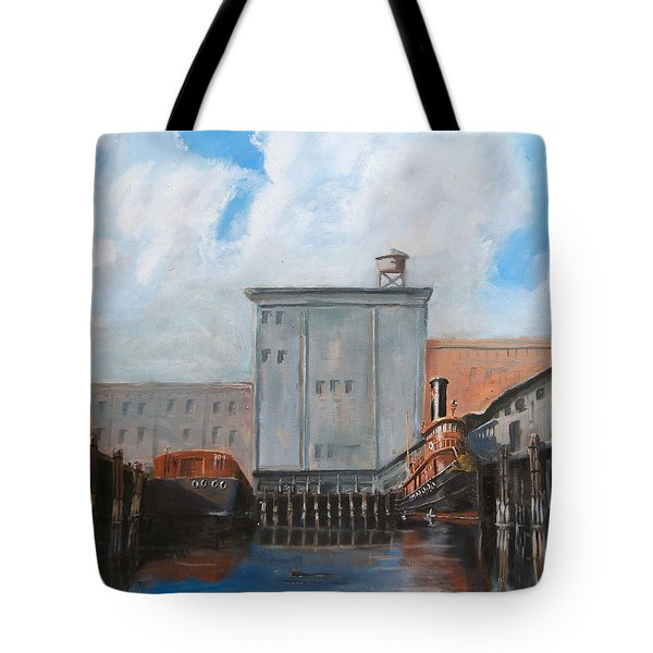 Hudson River Still Life Tote Bag by Christopher Jenkins