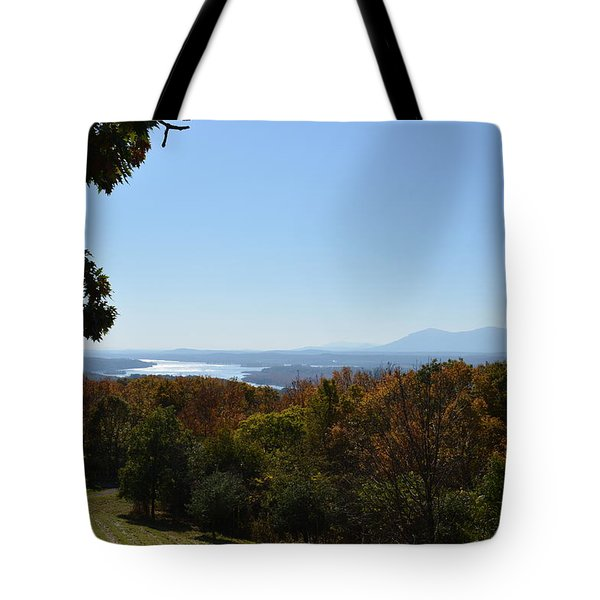 Hudson River View Tote Bag