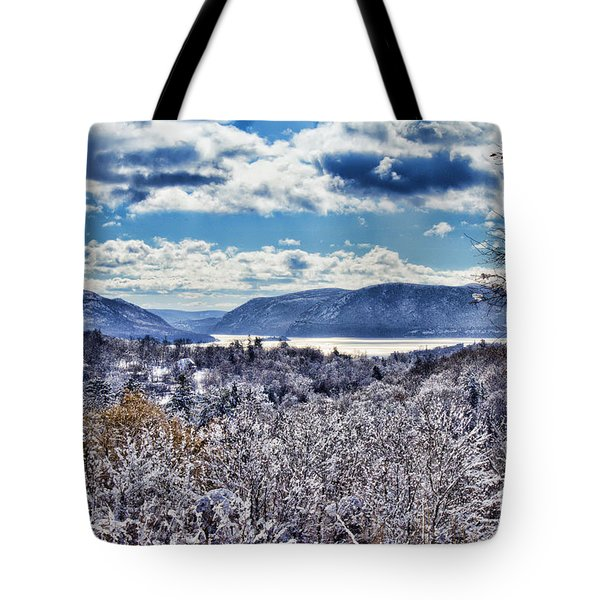 Hudson Valley First Snow Mystic Colors Tote Bag
