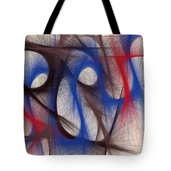 Hues Of Blue Tote Bag by Marian Palucci-Lonzetta
