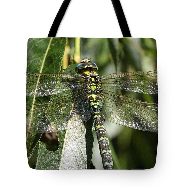 Huge Dragon-fly In Detail. Tote Bag