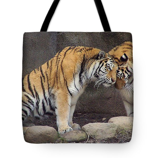 Hugs And Kisses Tote Bag by Frozen in Time Fine Art Photography