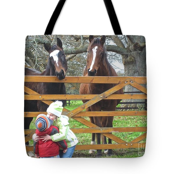 Hugs And Kisses Tote Bag by Suzanne Oesterling