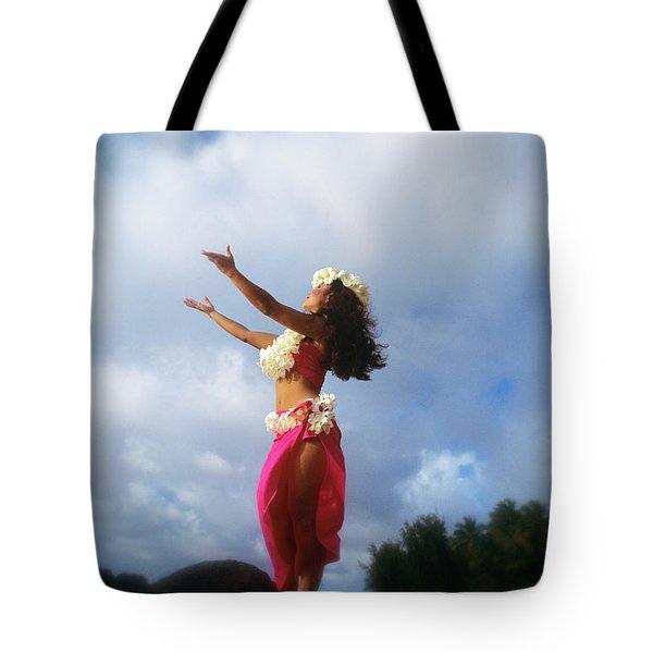 Hula Dancer Hawaii Tote Bag