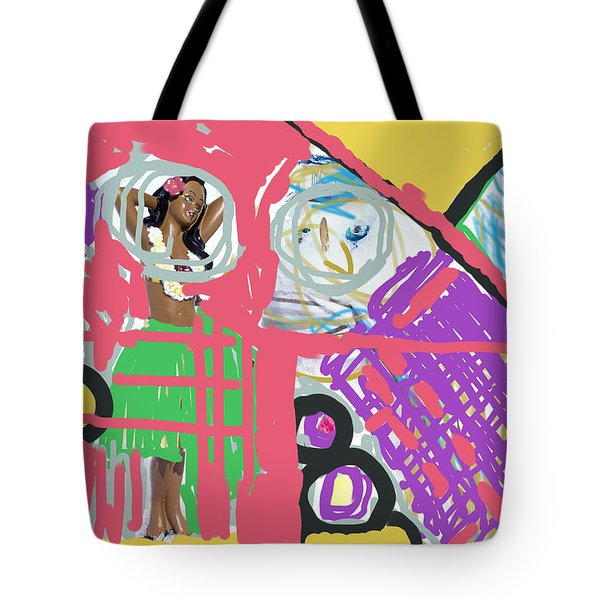 Hula Girl Under Paint Tote Bag
