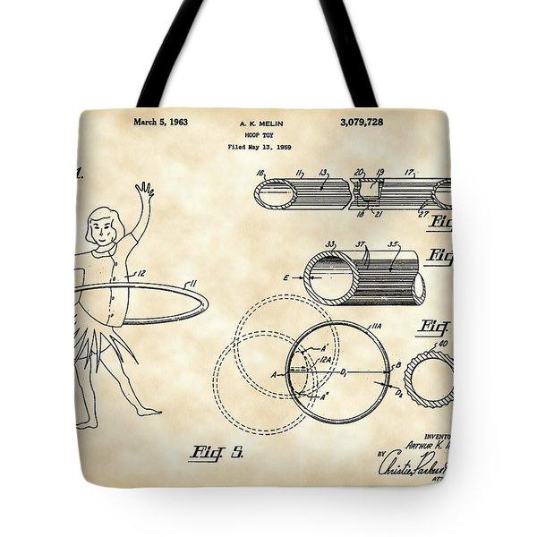 Hula Hoop Patent 1959 - Vintage Tote Bag